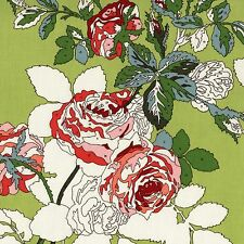 Purebred PAINTED ROSES Fabric FQ ERIN MICHAEL 30s Floral COLOUR BY NUMBER Green
