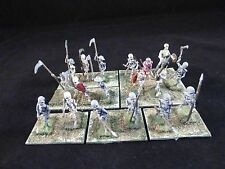 25mm Classic Fantasy Metal Pre-Slotta Minifigs VFW Undead Skeleton Unit #3 (18)