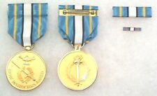 US Army ROTC JROTC Gold Instructor Medal, complete set of 3