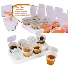 8pcs Baby Kids Weaning Food Freezing Cubes Tray Pots Storage Containers Box NEW