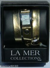 Wanderlust by La Mer Collections Watch Women Wristwatch Triple Wrap Gold Band