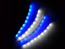 10x sets RC Blue and White LED Strip Lights Superbright Quadcopter Car Truck 6""