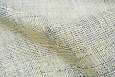 B163 PURE LINEN PRINCE OF WALES. CHECK LIGHT NATURAL SOFT TONES MADE IN ITALY