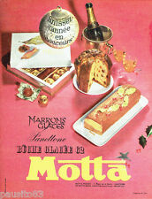 PUBLICITE ADVERTISING 056  1962  Motta   glaces buches glacées  panettone
