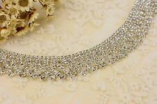 Crystal Bridal Trimming Rhinstone Applique for Necklace & Bracelet Wedding Chain
