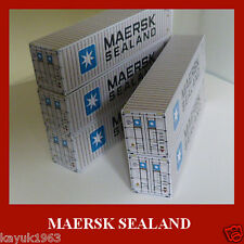Maersk Sealand Shipping Container Card Kits 40ft Buy Now & FREE 20ft x6 OO Gauge