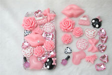 New 3D Bling Pink lips DIY Cell Phone iPhone4 Case - Deco Den Kit !
