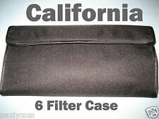 6 Filter Case Holder Pouch Wallet Purse Lens 6 Pockets Bag 25-82mm Camera
