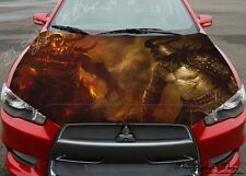 Warrior Demon Full Color Graphics Adhesive Vinyl Sticker Fit any Car Bonnet #207