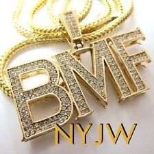 """ICED OUT G BMF BLACK MAFIA FAMILY PENDANT W/ 36"""" CHAIN"""