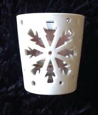 Yankee Candle Christmas Festive Winter Flurries Arrow Snowflake Votive Holder