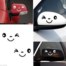 Hot Sell Smile Face 3D Decal Black Sticker for Auto Car L+R Rearview Decoration