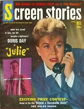 Doris Day cover SCREEN STORIES magazine 1956 JULIE excellent condition