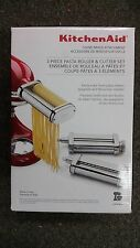 NEW KitchenAid 3-Piece Pasta Roller & Cutter Set (Stand Mixer Attachment)  KSMPR