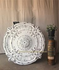 COUNTRY FRENCH SHABBY METAL CEILING CHANDELIER MEDALLION WALL DECOR CHIC 38 3/4""
