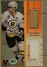2003-04 IN THE GAME - PARKHURST - RAYMOND BOURQUE ROOKIE STICK & JERSEY CARD