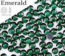 6mm Great Quality Hot Fix/Iron On Emerald Flatback Round HOTFIX SS0