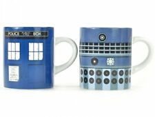 2 x Doctor Who TARDIS and DALEK Mini MUG SET - Ceramic 110ml Espresso Mugs