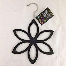 Black Velvet Flower Accessory Hanger Great For Scarfs, Belts, and More