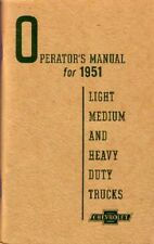 1951 Chevrolet Truck Owners Manual User Guide Reference Operator Book Fuses OEM
