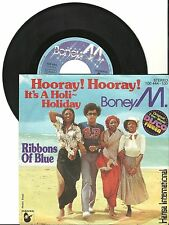 """Boney M., Hooeray Hooray it's a Holi Holiday G/VG 7"""" Single 0596"""