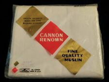 Vtg Cannon Fine Muslin Cotton Full Double Flat Sheet White Quilt Backing USA A15