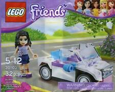 NIB Lego Friends Emma Minifig and White Convertible Car Polybag