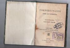 cornelii taciti - libri qui supersunt - tomus prior -