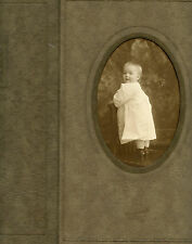 Antique Photo  In Folder - Jackson, Mississippi - Cute Baby Standing on Chair