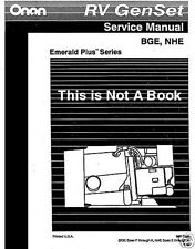 Onan RV GenSet Emerald Plus III Service Manual OP BGE BGEL E-K NHE NHEL Parts CD