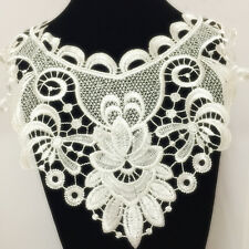 New Lace Embroidered Floral Neckline Neck Collar Trim Clothes Sewing Applique 70