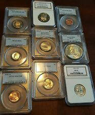Super Slab Buyout! Pcgs Ngc Graded Modern Coins 1946-2009 At Over 40% Discount