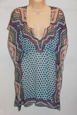 NWT BECCA Bikini Swimwear Swimsuit Cover up Dress Tunic Size M/L TEL Multi