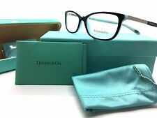 TIFFANY & CO. BLACK/BLUE EYEGLASSES SWAROVSKI CRYSTALS TF 2079B 8055 52MM FRAME