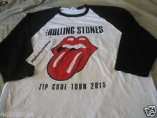 2015 The Rolling Stones Zip Code Tour T Shirt Vintage Baseball white & Black 2XL
