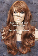 HEAT SAFE WAVY LONG RED BLONDE STRAWBERRY MIX SKIN TOP WIG WBKT 30-27