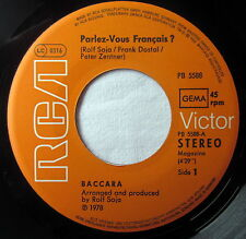 "7"" Vinyl - BACCARA - Parlez-Vous Francis? / You and me"