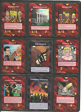 * FULL 100 UNCommon Set * Illuminati INWO Card Game * NWO * New World Order *