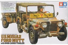 Tamiya 35130 Maquette 1/35 U.S. M151A2 Ford MUTT with M416 Cargo Trailer