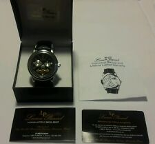 MENS LUCIEN PICCARD LUXURY  Moon Phase AUTOMATIC MECHANICAL WATCH Beautiful!