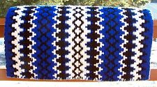 Arroyo Seco Show Blanket - 38x34 (Royal Base/Cream and Black Accents) by Mayatex