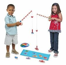 Magnetic Fishing Game Gift for 3 Year Old Twins Fun Outdoor Wood Toys Boys Girls