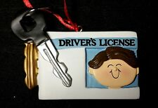 Personalized Male/Boy Driver's License Christmas Tree Ornament Holiday Gift