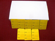 """1000 PCS. 1-1/4"""" W X 1-7/8 H  Yellow  Garment  Price Hanging  Lables  Tags"""
