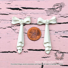 """Shabby Chic Furniture Appliques """"Pair of Sweet Bows(Set of 2)"""""""