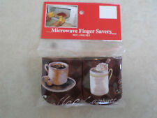 Coffee Cups-- Cotton-Microwave Oven Mitts-Hot Pads-Pot Holder-stocking stuffers-
