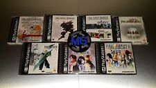Complete Final Fantasy Playstation 1 Lot ☆☆ MINT CASES ☆☆ - 7 8 9 Tactics PS1