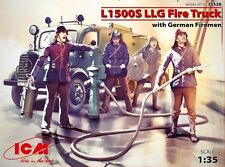 ICM 35528 L1500S LLG Fire truck with firemen 1/35 hobby model kit