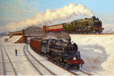 Lord Nelson Southern Railway Engine Locomotive Steam Train Christmas Xmas Card