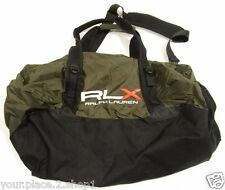 "RLX Ralph Lauren Men's ""Eco Olive"" Nylon Packable Duffle Bag"